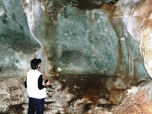 Es sorpréndete obsérvalas con mis propios ojos, llegar y palmar con las manos las paredes de la cueva