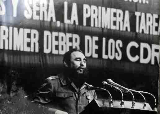 La Foto de Fidel fue tomada por Guillermo Rivera en la clausura del II Congreso de los CDR en el Teatro Karl  Marx.