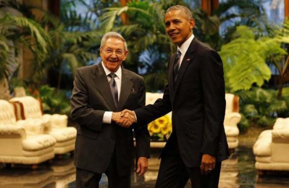 Obama y Raul Castro en Cuba