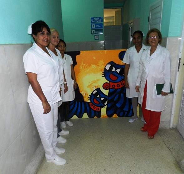 Obra donada por la artistas de la plastica Ileana Sánchez Hing al hospital