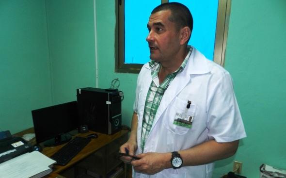 Sigfrido Valdés Dacal, director de esa unidad del Ministerio de Salud Pública.