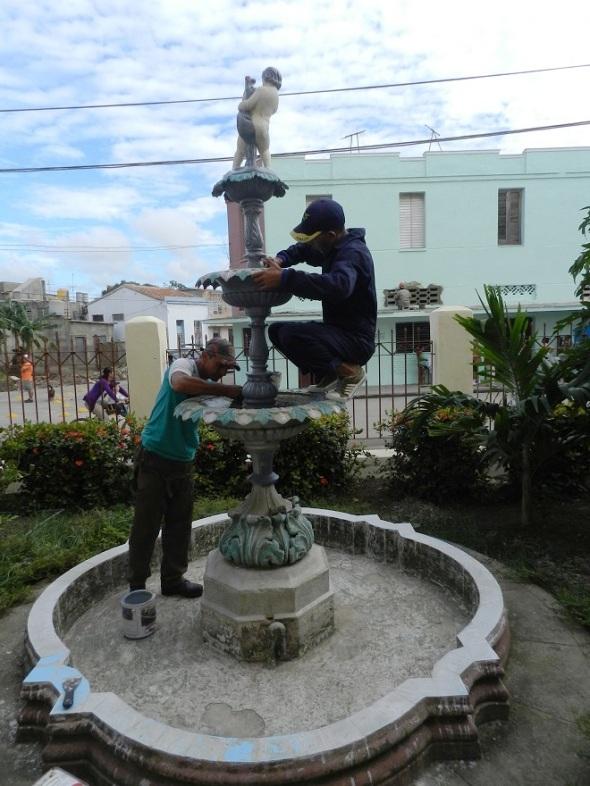 """Una de las fuentes del Hospital Pediátrico Provincial """"Eduardo Agramonte Piña"""""""