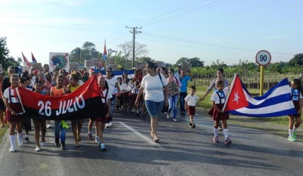 Desfile por el 1ro de Mayo en San Blas