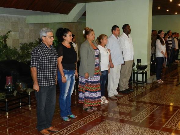 Máximas autoridades del municipio de Camagüey distinguen a cuadris sindicales, del partido y  trabajadores y entidades destacadas