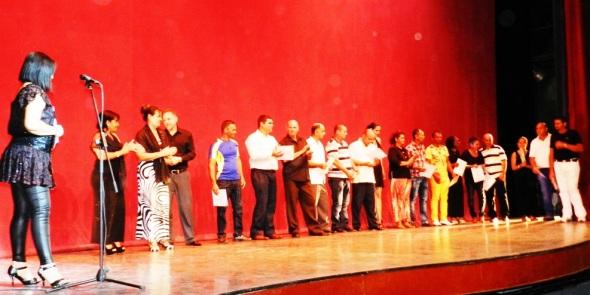 Se congratuló a un grupo de trabajadores y organismos destacados Evelin Echazaval . Foto Lázaro D. Najarro Pujol
