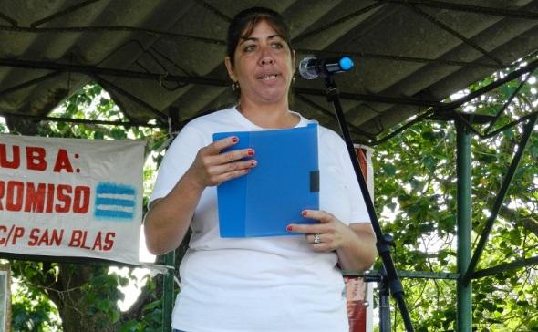 Yaquelin Estrada Socarrás, del secretariado municipal de la Central de Trabajadores de Cuba en Camagüey