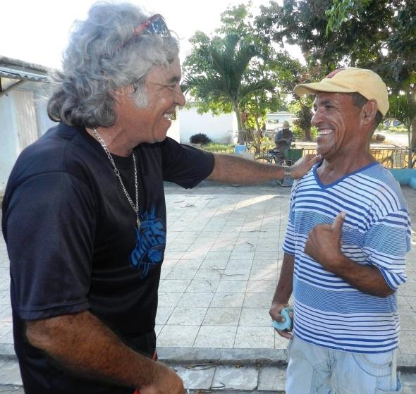 A la derecha Juan Alberto Ínsula Pérez
