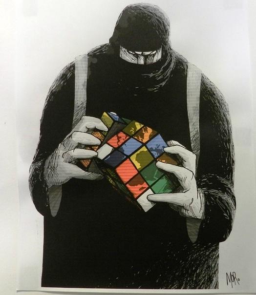 El creador trata el tema del terrorismo que intenta modelar un nuevo orden mundial
