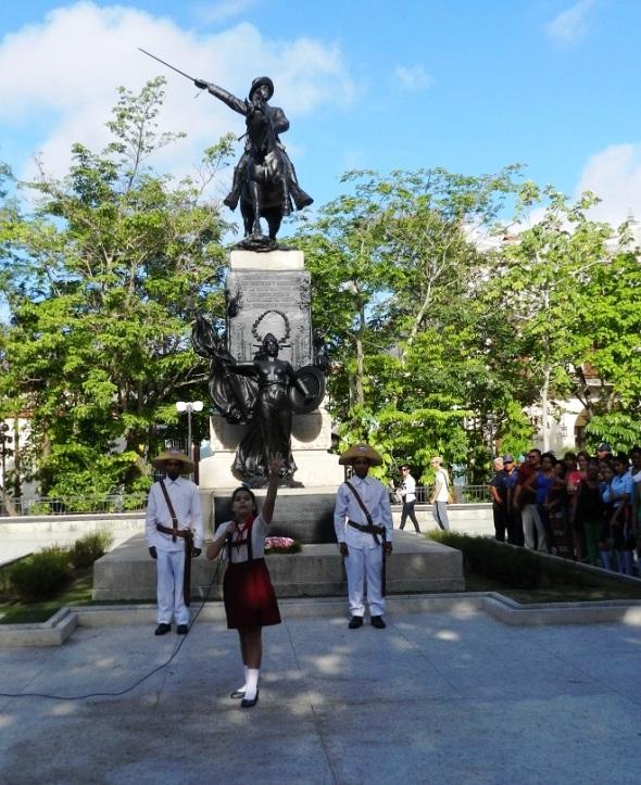 El Mayor General del Ejercito Libertador cubano Ignacio Agramonte Loynaz fue recordado hoy en esta ciudad con una ceremonia política-cultural