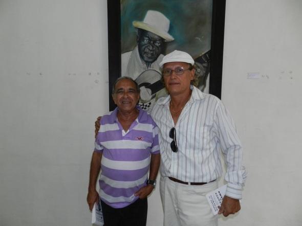 Jorge Santos Caballero y el critico Armando Pérez Padrón (1)
