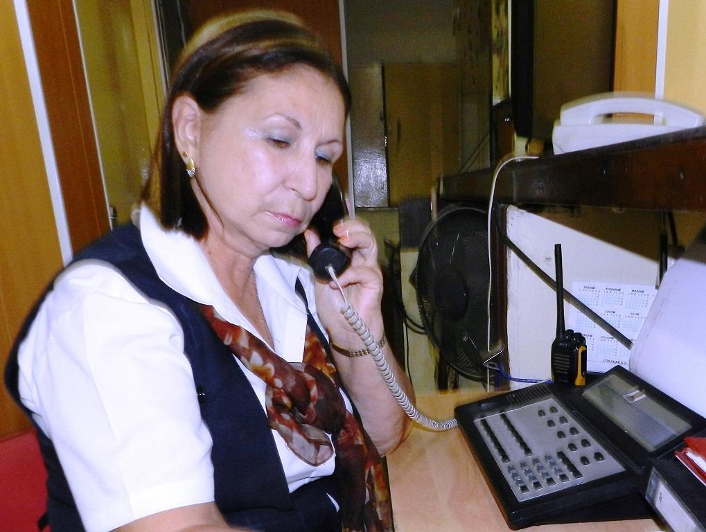 Mayra fundadora del Hotel Camagüey, Cuba, 40 años en el mismo puesto de trabajo, la voz más dulce de la instalación