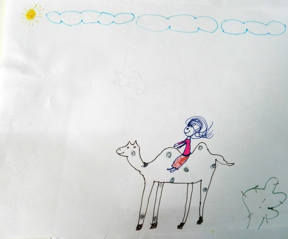 Miiam montada en un Camello