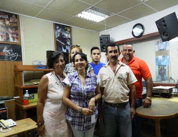 Alguno de los realizadores y participantes en el programa