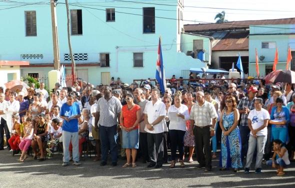 Acto por la efemérides moncadista en el distrito Julio Antonio Mella