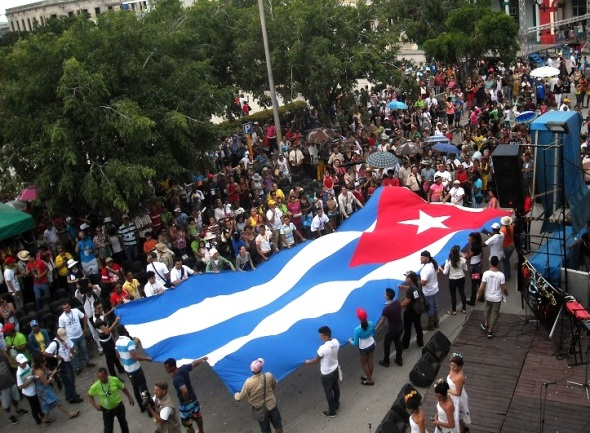La bandera cubana ha sido emblema de generaciones enteras de patriotas y luchadores sociales