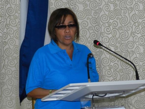 María de los Ángeles Galera, directora de la Escuela de Oficio Francisco Sánchez Betancourt