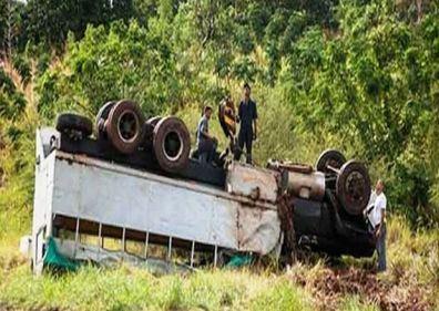 Accidente masivo en el municipio Los Palacios, de Pinar del Río. Foto Carlos Bauta. Periódico Guerrillero