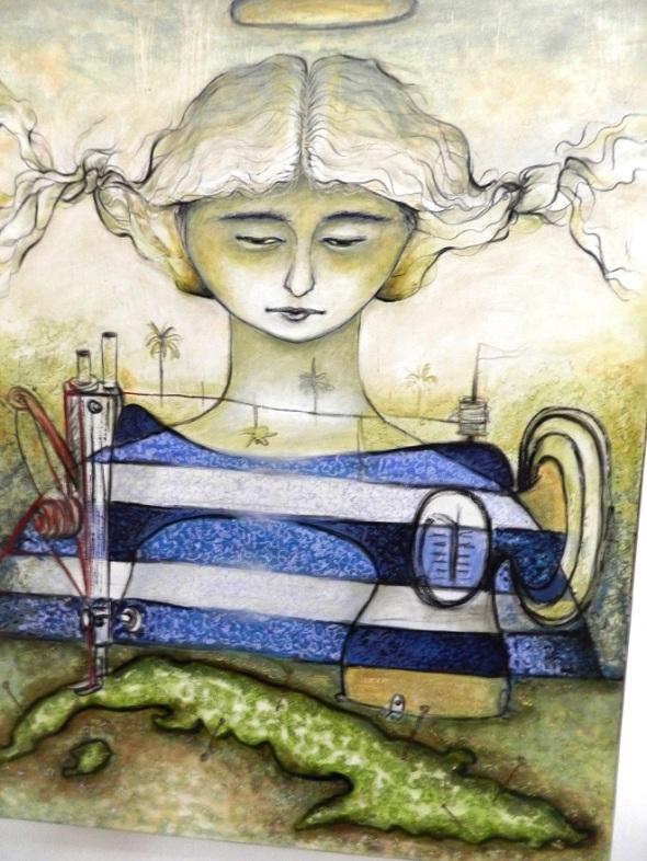 Titulo De la serie nubia. Autor Martha Jiménez. Dimensiones 128 x 92 cm. Técnica Mixto lienzo. Año 2012