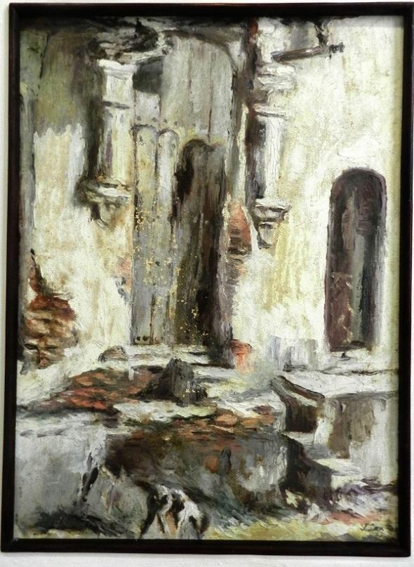 titulo-la-puerta-autor-jorge-santos-diaz-tecnica-oleo-carton-dimensiones-60-x-44-cm