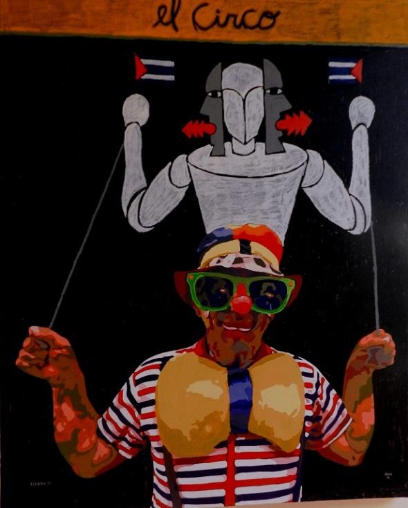 Autores Joel Jover e Ileana Sánchez Titulo El circo Técnica mixta s tela Dim 130 x 162 cm Año 2015