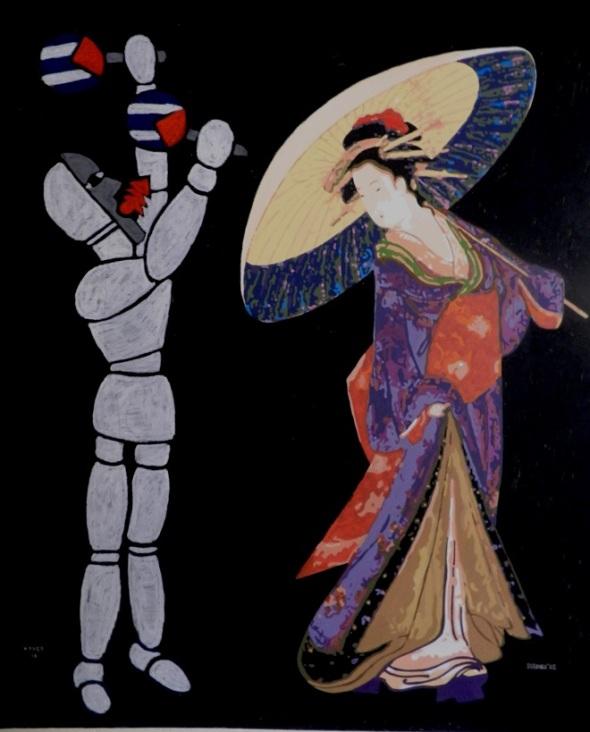 Autores Joel Jover e Ileana Sánchez Titulo La gran conga Técnica mixta s tela Dim 130 x 162 cm Año 2016