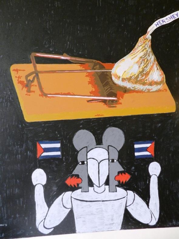 Autores Joel Jover e Ileana Sánchez Titulo La ratonera Técnica mixta s tela Dim 130 x 162 cm Año 2015