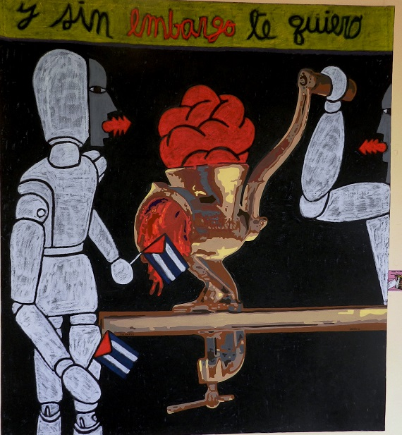 Autores Joel Jover e Ileana Sánchez Titulo Y sin embargo te quiero Técnica mixta s tela Dim 130 x 145 cm Año 2016