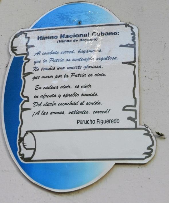 El Himno de Bayamo o Himno Nacional de Cuba