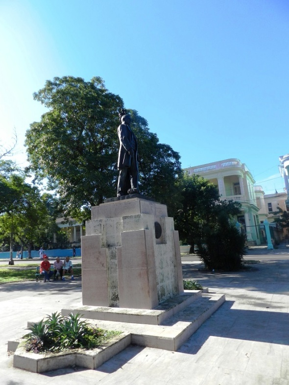 La estatua del Benemérito de las Américas, Benito Juárez. Foto Lázaro David Najarro Pujol