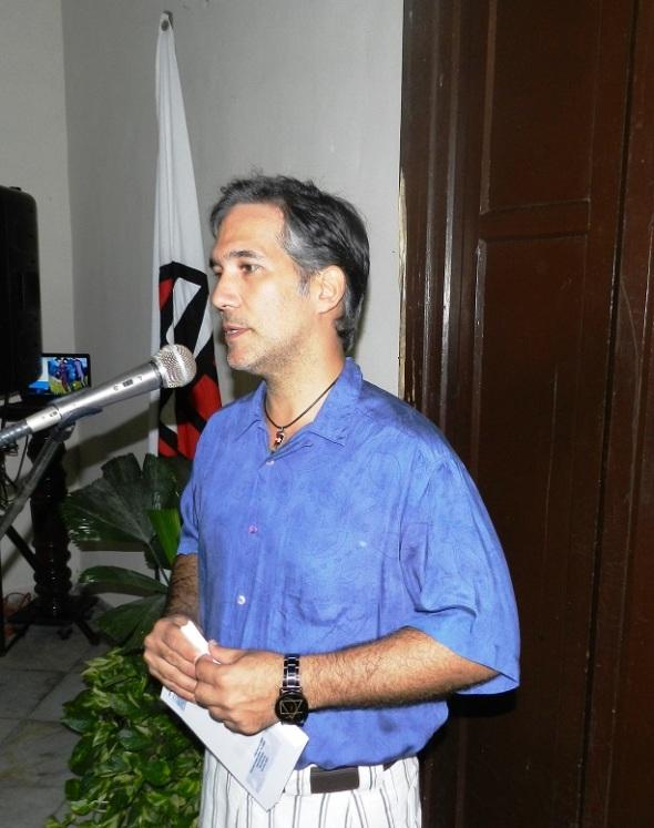 Pavel Alejandro Barrios opinpo que obra de Caridad sorprende por su fuerza de expresión