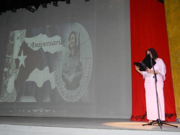 Aniversario 57 de la constitución de la Federación de Mujeres Cubanas