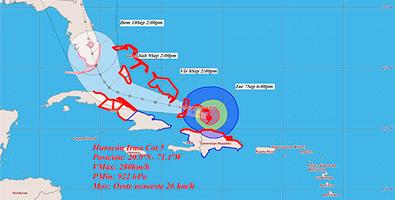Probabilidad de la trayectoria del huracán para este fin de semana. Foto: Instituto de Meteorología