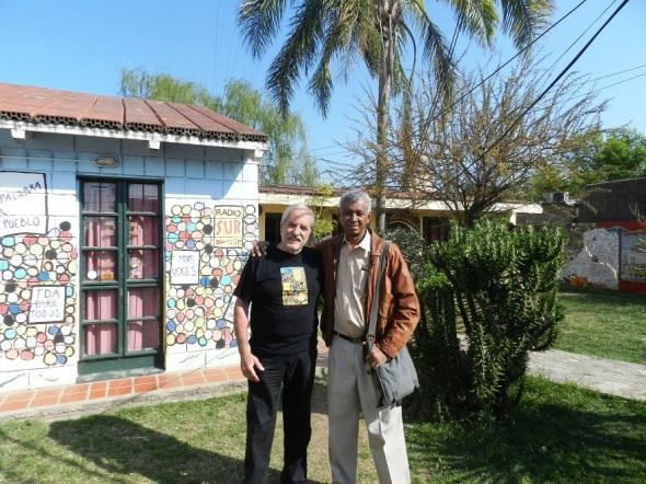 Con el periodista argentino  Alberto Di Pietromica