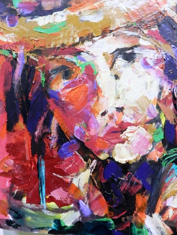 Autor Ricardo Bermúdez. Titulo De la serie Mujeres del trópico. Dimensión 35 x 25 cm. Técnica Óleo-lienzo. Año 2017.