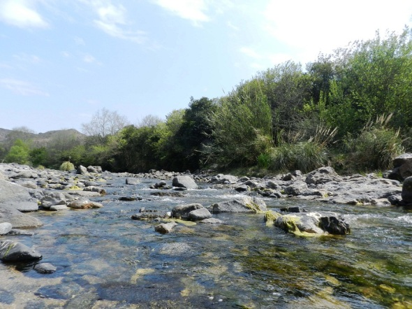 El rio Anisacate es la unión de La Suela y San José