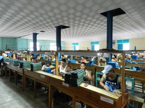 Proceso productivo en la fábrica de tabaco El Surco, de Camagüey. Foto Lázaro David Najarro Pujol