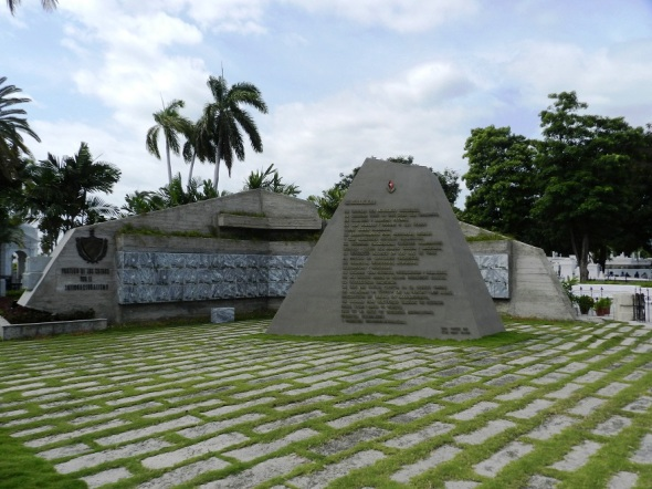 Concepto Revolución de Fidel Castro en el cementerio Santa Ifigenia, en la ciudad de Santiago de Cuba