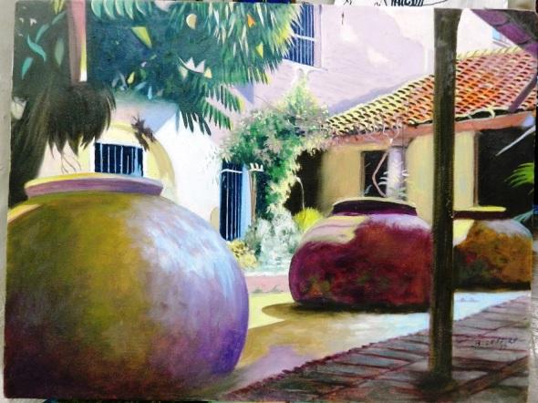 Patio interior, obra de Eduardo Rosales.Foto Lázaro D. Najarro Pujol
