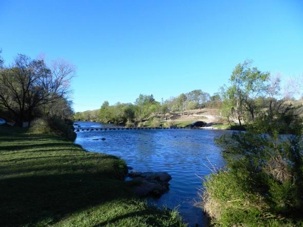 Una tarde invernal en el río Los Reartes