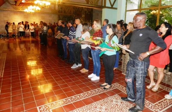 Distinguen a trabajadores de la Oficina del Historiador de la Ciudad de Camagüey. Foto Lázaro D. Najarro