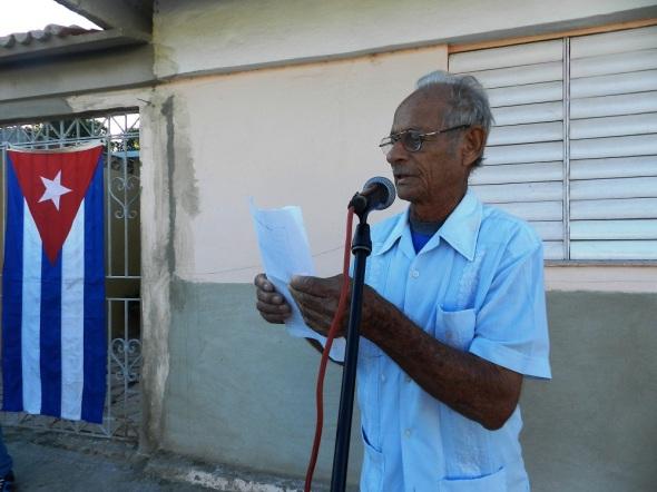 El combatiente Orlando Michel Monero, dedicó una poesía al líder Histórico de la revolución, Fidel Castro Ruz