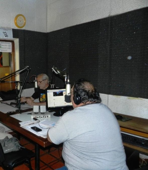 Locutores Radio Sur en el programa La Feria
