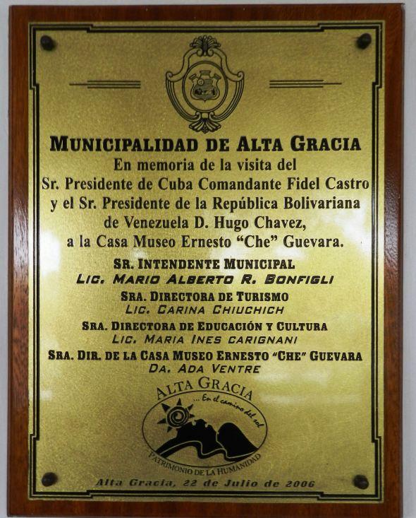 Memoria de las visitas de Fidel y Hugo Chávez