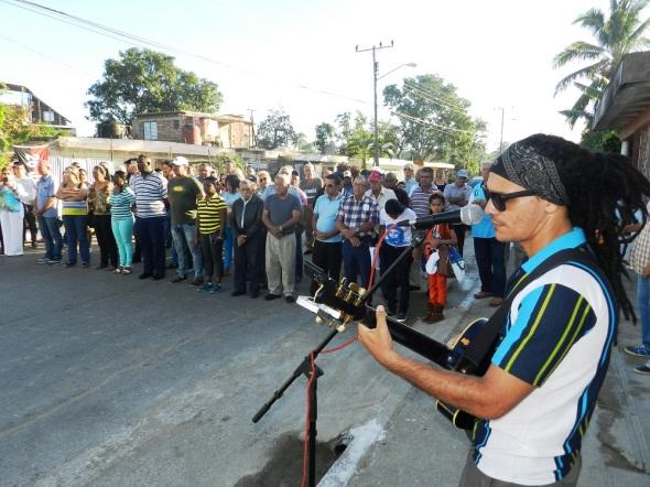Trovador Harold Díaz, integrante de Golpe a Golpe, proyecto sociocultural de la Asociación Hermanos Saíz (AHS) en Camagüey,