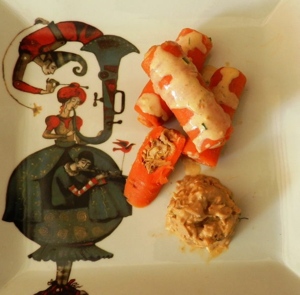 Zanahorias rellenas elaborada por el cocinero Lisvany León. Foto Lázaro D. Najarro Pujol