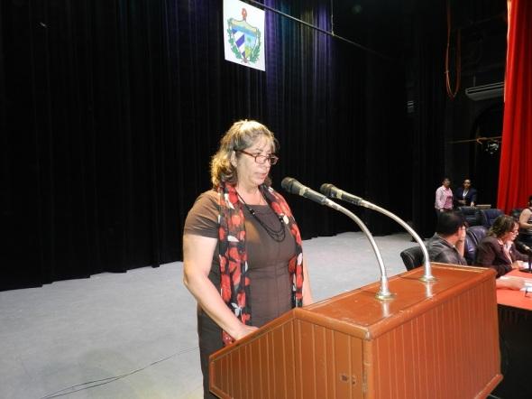 Yaquelin Estrada Socarrás, presidenta de la comisión de Candidatura Municipal