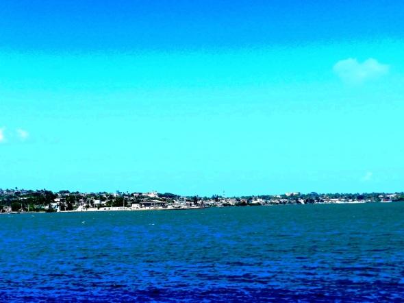 Ciudad de Nuevitas Vista desde el mar