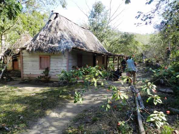 Bohio campesino en el Sendero El Cubano