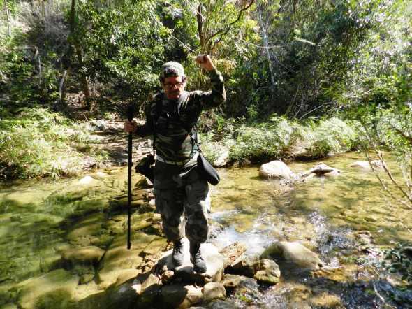 Camino a la cascada de El Cubano