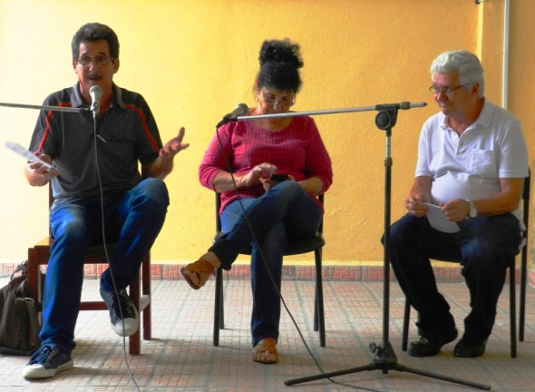 En la foto de izquierda a derecha Alejandro González Bermúdez, Reyna Esperanza Cruz Hernández y Roberto Manzano